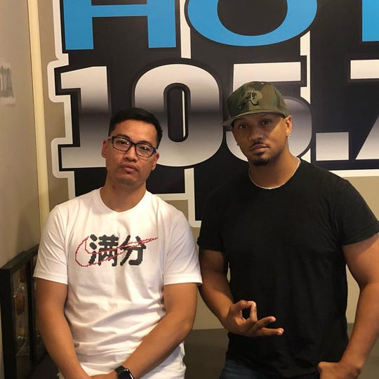 DJ Frosty, right, with Montgomery native music producer Bao Pham.