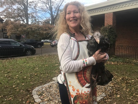 Laura Turner, owner of Beautiful, holds Williamson County's 10-year old star turkey. The bird has been on multiple county tours throughout her life.