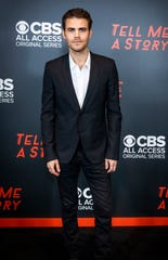 """Paul Wesley is photographed before the  premiere screening for """"Tell Me A Story""""at the Country Music Hall of Fame Wednesday, November 20, 2019."""