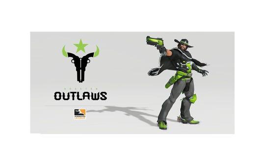 Logo for the Houston Outlaws