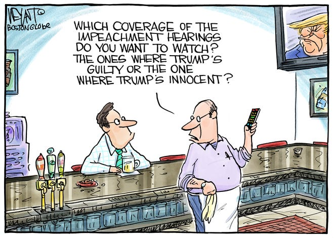 Trump guilty or innocent on TV.