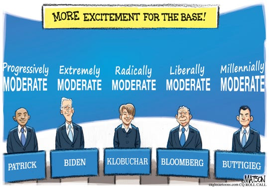 Moderate Democrats in debate.