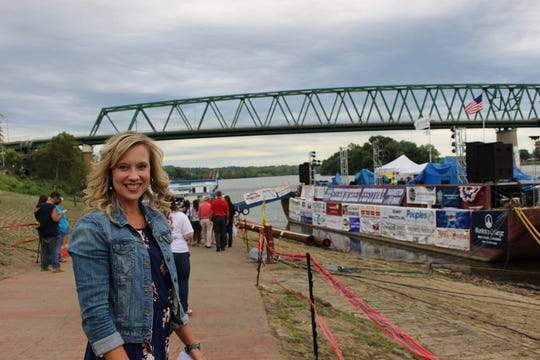 Carrie Ankrom, president of the Marietta Chamber of Commerce, says attracting tourists to events like the Sternwheel Festival is helping to revitalize the city's downtown.