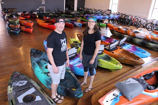 Ryan Smith and Hallie Taylor own the Marietta Adventure Company.