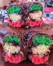 Italian Rainbow Donut from Glaze Donuts, New Milford