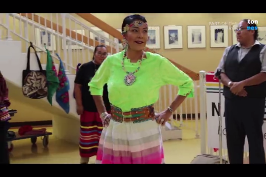 Six local Navajo seamstresses presented their work at the Native Skirts Fashion Demo at Northern Navajo Medical Center in Shiprock on Nov. 20, 2019.