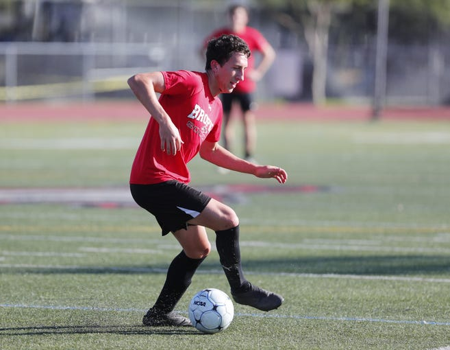 Brophy soccer player Francesco Montanile practices with his team in Phoenix November 11, 2019.