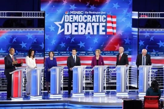 Los aspirantes demócratas coincidieron en una cosa durante el 5to debate: Trump tiene que irse.