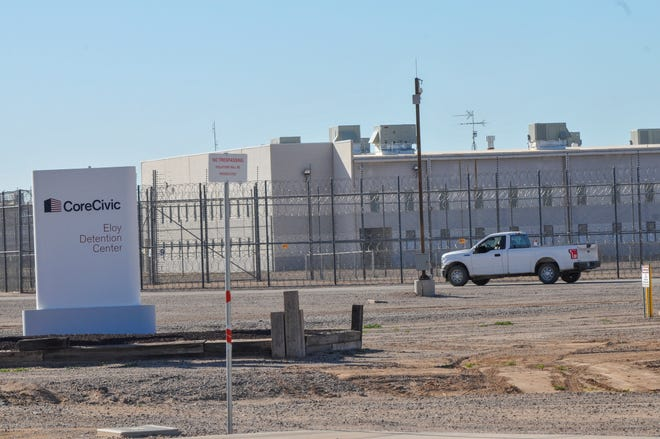Vista exterior del Centro de Detención de Eloy, en Arizona.