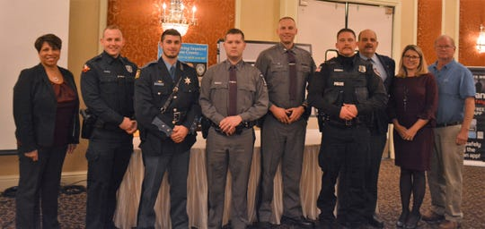Law enforcement officials were recognized by Dutchess County on Wednesday, Nov. 20, 2019 at the Poughkeepsie Grand Hotel in the City of Poughkeepsie.