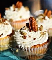 Vanilla maple pecan keto cupcakes at Safe & Sweet at Central Market House in York City, Thursday, Nov. 21, 2019. Dawn J. Sagert photo