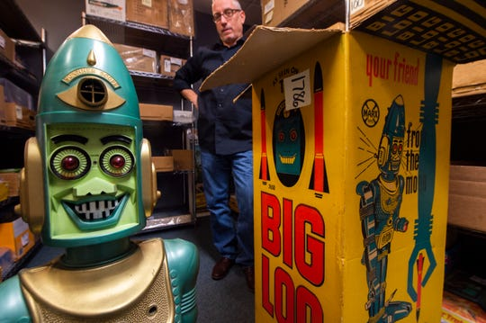 A Big Loo robot toy, which was originally purchased at J.M. Fields on Loucks Road in York, was part of Nov. 2019 auction at Hake's Auction House in Springettsbury Township. The 1960s toy sold for over $500.