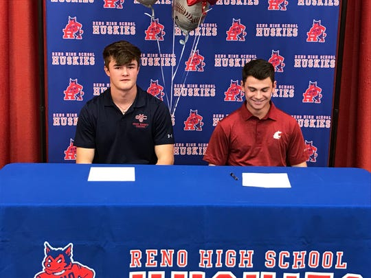 Coleman Schmidt, left, will play for Saint Mary's and Gunnar Gouldsmith will join  at Washington State.