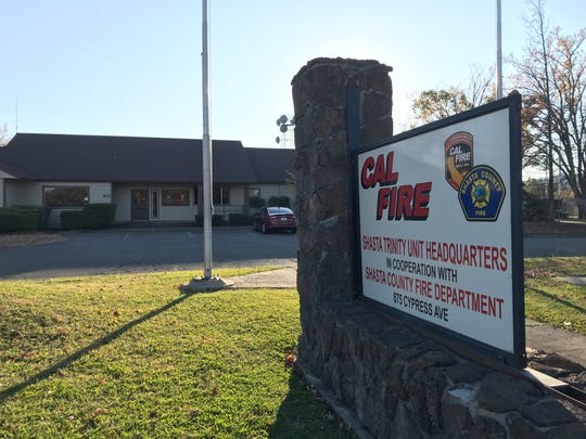 Cal Fire's regional office in Redding is on Cypress Avenue next to City Hall.