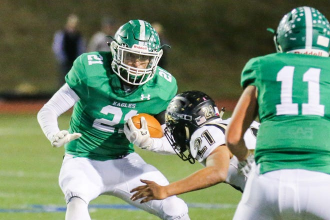 Eldorado High School's Eric Reyes was the Week 12 football player of the week after his performance against Haskell in the Eagles' 30-14 Class 2A Division II bidistrict win Nov. 15, 2019.