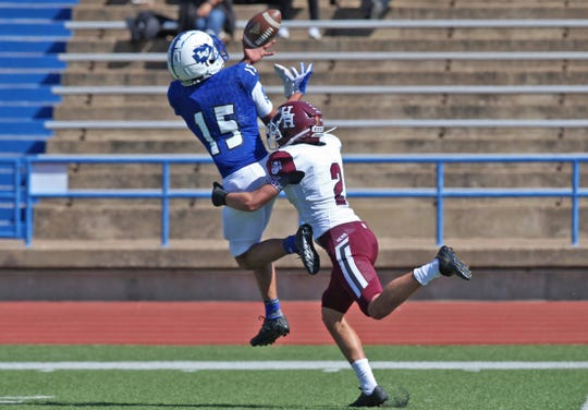 Lake View High School's Johnny Espinosa led the State of Texas in interceptions in class 4A.