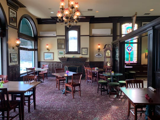 The interior of the inn and pub located in downtown Plymouth, now known as The Fig and The Pheasant.