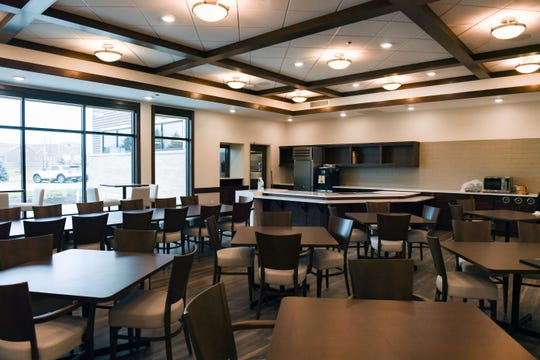 A dining hall is set up for patient meals at the Avera Addiction Recovery Center on Thursday, Nov. 21, in Sioux Falls.