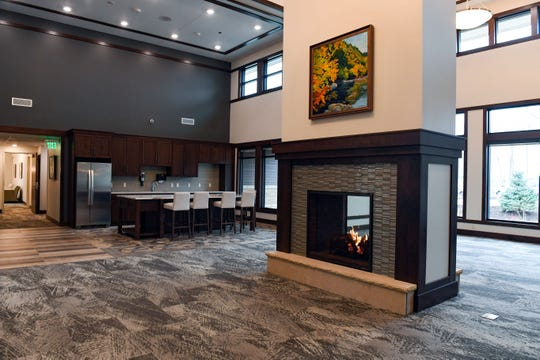 """The lobby of the """"lodge"""" building at the Avera Addiction Recovery Center is the largest and most open of the patient spaces, as seen Thursday, Nov. 21, in Sioux Falls."""
