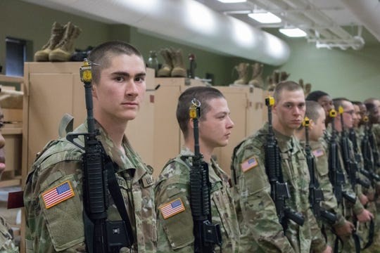 Pvt. Rhys Bullington arrived at Fort Leonard Wood from his hometown of Sparta for Basic Combat Training on Oct. 28.