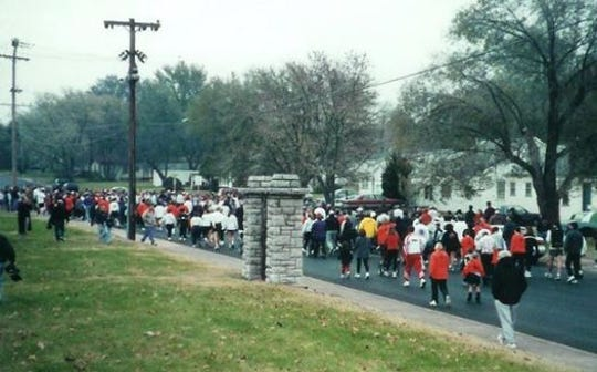 In the early years of the Thanksgiving Day Turkey Trot the course included Pythian Street.