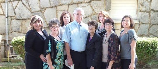 Janet and Wandal Heatherly, her second husband, with daughters Sandy Maraden, Cheryl Richardson, Tanya Taylor, Sylvia Nimrick, Charlotte Hall and Cindy Heatherly