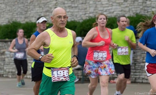 Tim Robie, 70, of Buffalo (No. 196) has run all 24 prior Thanksgiving Day Turkey Trots and plans to run Nov. 28, the 25th annual, as well. (This photo was not taken during a Turkey Trot.)