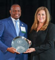 Sen. Randolph Bracy was inducted into the William & Mary Sports Hall of Fame in 2018