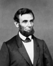 President Abraham Lincoln, 1861.