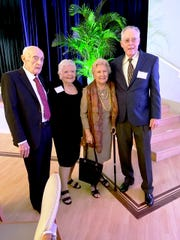 "Vincent and May Smyth, left, founder of Mary's Angels, with Jan and Noel Lindsay, founders of Mary's Home at ""Be an Angel, Bring an Angel"" to benefit Mary's Angels on Nov. 13, 2019, at Stuart's Kane Center."