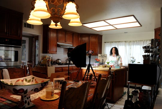 East Ventura County resident Jill Hecker prepares a recipe for a video that will be posted to her YouTube channel, YesterKitchen. Hecker is a self-taught food historian who focuses on recipes from the 1940s-1980s.