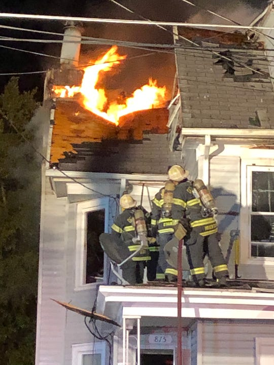 The upper floors of 815-813 Archer St. in Millville were wrecked in a fire Wednesday night.