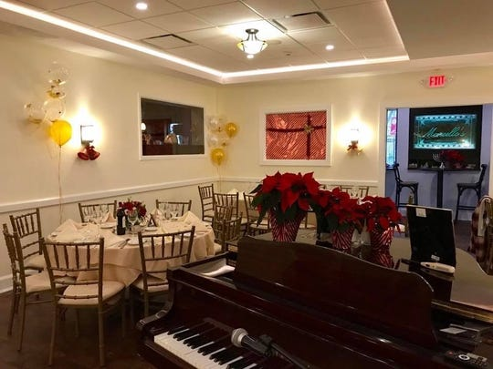 The dining room at Marcello's in Suffern decked out for Christmas.