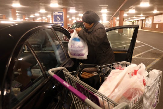 Linda Scott of New Rochelle unloads her groceries at Stop & Shop in New Rochelle Nov. 21, 2019. Scott says she will miss the supermarket when it closes in February 2020 to be replaced by an Audi car dealership.