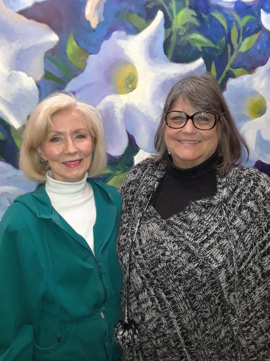 The Wichita Falls Poetry Society announced winners in the November contest. Pictured, Lynn Hoggard, left,  (first place) and Cynthia Archibald (second place). Not pictured is Linda Smith (third place).