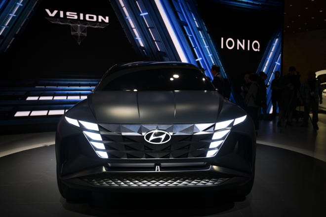 Hyundai Vision T Concept is photographed at the Los Angeles Auto Show at the Los Angeles Convention Center. The show runs from November 22 to December 1.