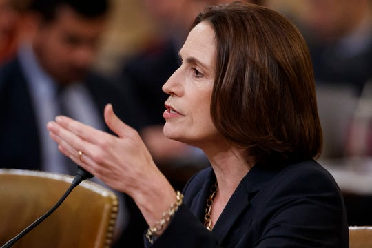 Former senior director for Europe and Russia at the National Security Council, Fiona Hill testifies during the impeachment inquiry into President Donald Trump on Nov. 21, 2019.