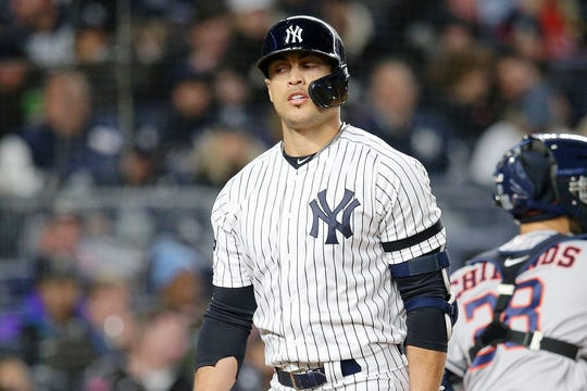 Stanton joined the Yankees after the 2017 season.