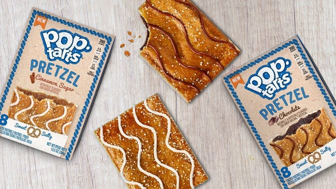 The Pop-Tarts Pretzel is available in cinnamon sugar and chocolate.