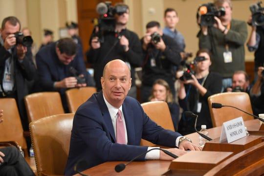 Gordon Sondland, U.S. ambassador to the European Union, testifies at the impeachment hearing on Nov. 20, 2019.