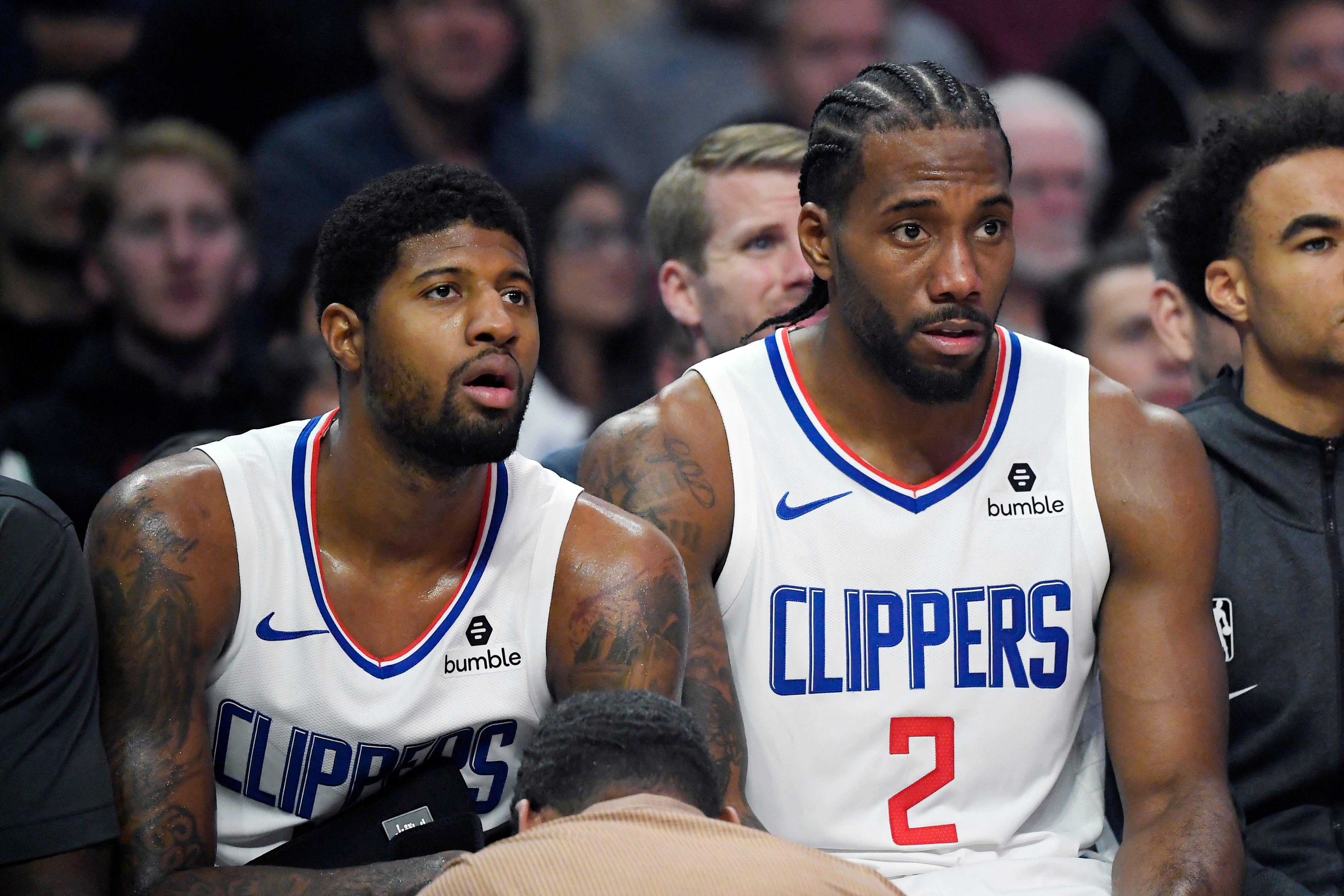 喬治和Leonard竟從未在訓練場上同時出現,頻繁的輪休讓兩人缺少溝通!主教練這一番話很無奈!-黑特籃球-NBA新聞影音圖片分享社區