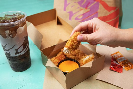 Taco Bell is testing its Crispy Tortilla Chicken in select markets Friday before rolling out nationwide next year.
