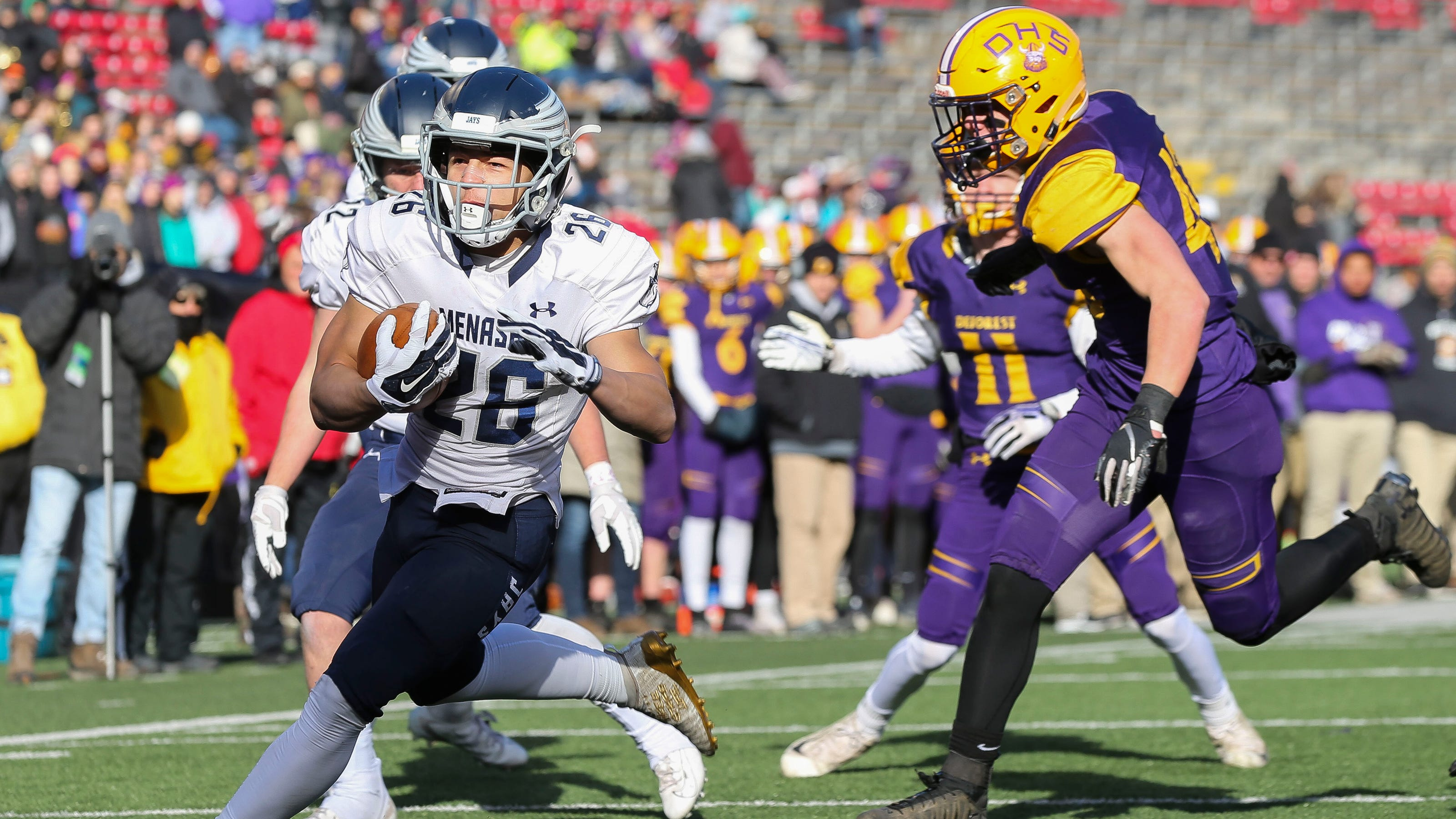 Wiaa State Football Muskego Brookfield East Deforest Prevail In Title Games