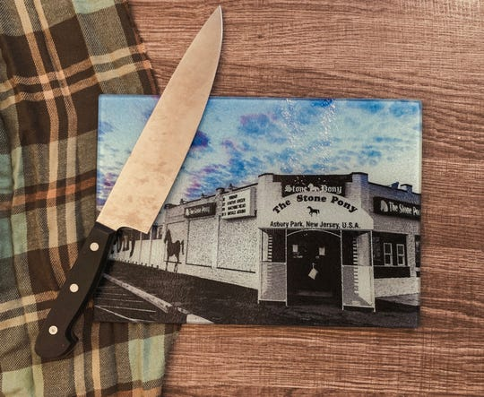 Cutting Board with photo of Asbury Park's The Stone Pony by After Rain.