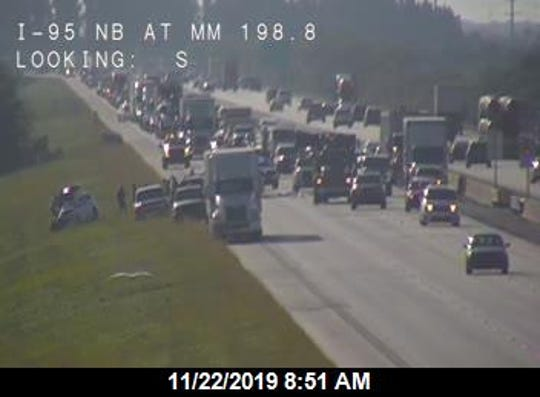 State troopers said someone died in a crash involving a tractor trailer and passenger van on Interstate 95 near Rockledge Friday, Nov. 22, 2019.