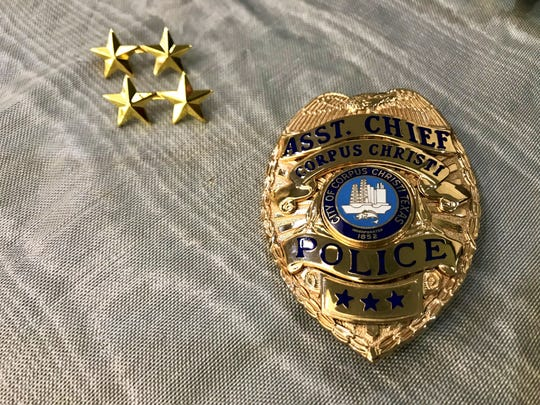 Todd Green was pinned with a Corpus Christi Police Department assistant chief badge on Friday, Nov. 22, 2019.