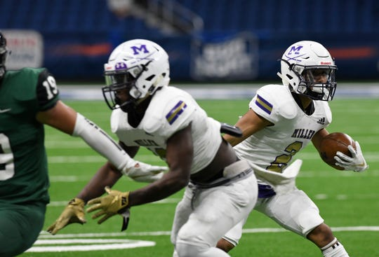 Miller faces San Antonio Southwest in their second playoff game, Thursday, Nov. 21, 2019, in the Alamodome. Miller won, 56-6.