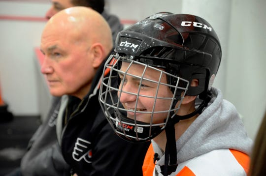 Zach Steward was the Flyers' guest on Friday. The two-time cancer survivor at age 14 will also read the team its starting lineup Monday night.