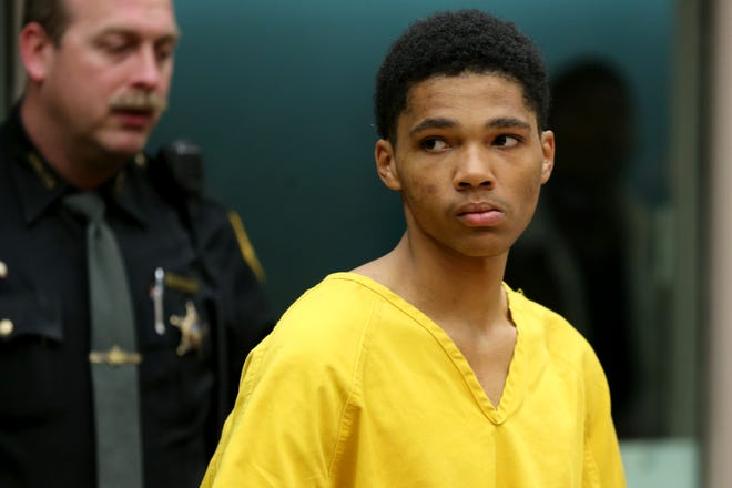 Brian Holmes Jr., 18, who is homeless, was arraigned in Hamilton County Municipal Court on charges of murder and felonious assault Friday, Nov. 22, 2019, in downtown Cincinnati.
