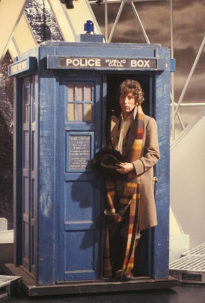 Tom Baker as the Fourth Doctor in 'Doctor Who.'